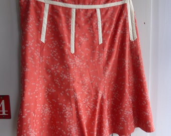 Vintage Marc Jacobs coral pink silk skirt size US 4 UK 10
