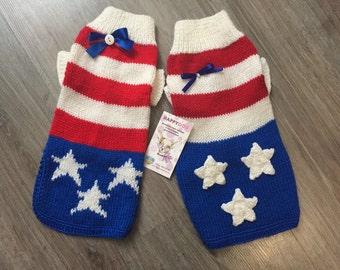 American flag dog sweater Striped dog sweater