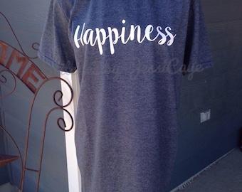 Tee, Happiness, grey shirt