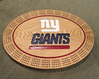 NY Giants Cribbage Board