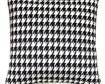 Black and white houndstooth envelope pillow cover throw pillow