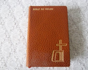 French Bible de Melan 1969 – vintage French religious book – Bible de Melan par René Boureau