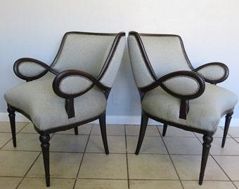 modern art nouveau furniture. Pair Of French MidCentury Modern Art Nouveau Ebonized 1940u0027s Club Chairs Furniture
