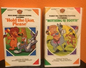 Vintage Porky Pig and Bugs Bunny VHS
