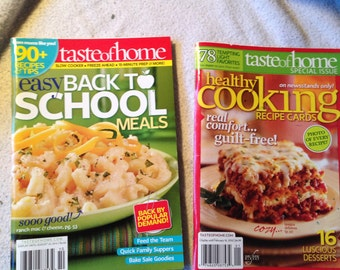 Back to School, Healthy Cooking Recipes (2), pre-owned.  Estate.