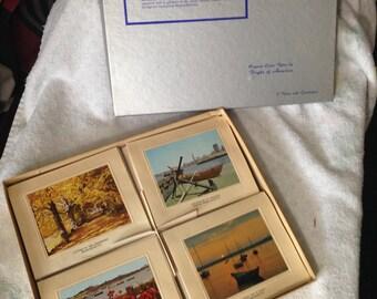 """Boxed """"Massachusetts"""" Cards Envelopes (12).  1970s"""