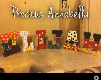 Block Letters Mickey,Disney letters , Block letters , letters for kids , home dexor , kid decor
