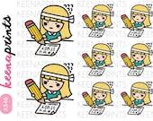 A546 | STUDY HARD Keenari Repositionable stickers Perfect for Erin Condren Life Planner, Filofax, Plum Paper & scrapbooking
