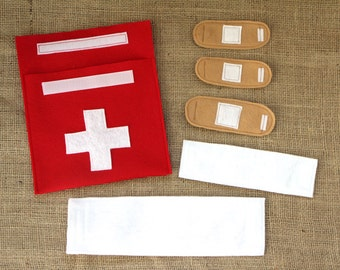 Felt Doctor Kit/First Aid - Bandages and Cast