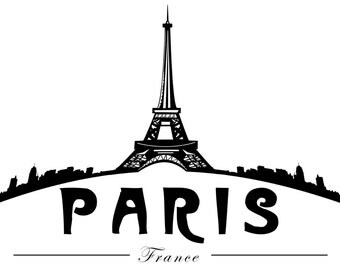 "Paris | 36""x18"" | Stretched Canvas Wall Art | France"
