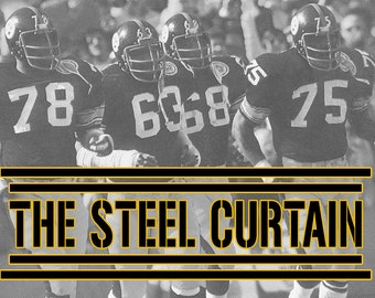 Steelers Wall Art steel curtain | etsy