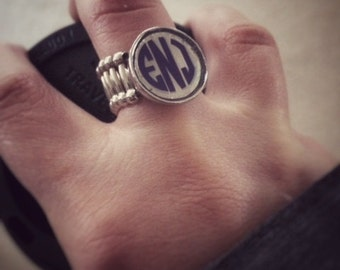 Monogramed Stretchy Ring