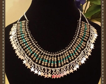 Luxury Silver Plated Beaded Necklace