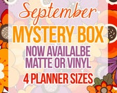 SEPT MYSTERY Box Monthly Box 250+ Stickers | Reg Price 25.00-27.00 | September Mystery Box, Subscription Box, Autumn, fall floral