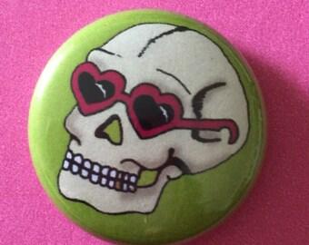 "Fly Guy Skull 1"" Pinback Button"