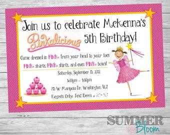 Pinkalicious Girls Birthday Party Invitation