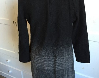 Mango Lined Wool Smart Tunic Dress Size Large