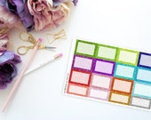 Faux Glitter Squares -- Matte Planner Stickers