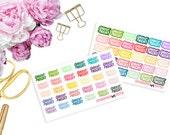 Game Night -- Matte Planner Stickers