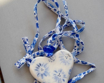 True Blue Heart Pendant