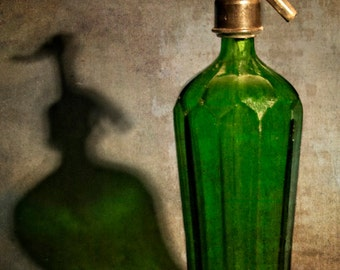Antique Seltzer Bottle, Deco style with a Sam Spade feel. 1940's
