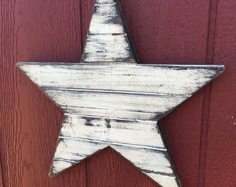 Wood barn star