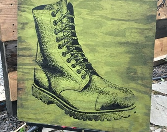 Green Army Boot