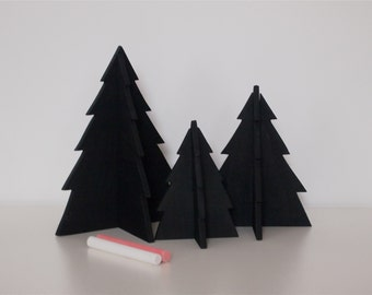 Three Little Blackboard Trees
