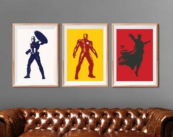 Avengers Assemble! Avengers Wall Art, Marvel Comics, Marvel Superheroe team.