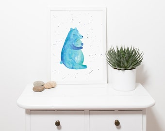 BEARS - welcome to the world, print art, wall decor