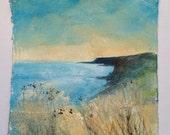 Dried grasses cliff edge...