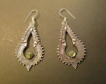 Earrings citrine