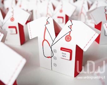 Favor Graduation Medicine boxes_Set 10 pcs_Favor Boxes_Doctor_Handmade in Italy