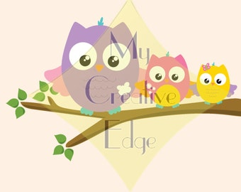 Nursery Art - Owls