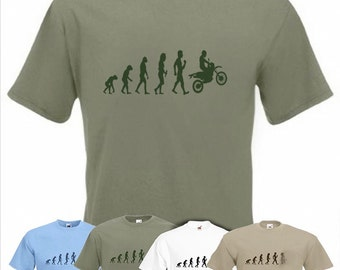 Evolution To Motocross t-shirt off-road motorcycle racing  T-shirt All sizes