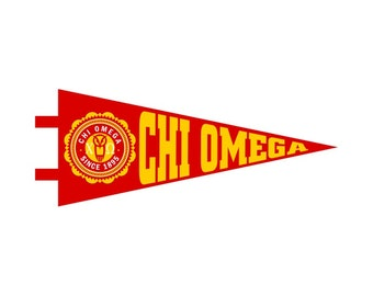 Chi Omega Pennant Decal