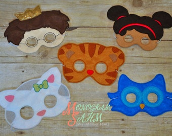 Deluxe Neighborhood Friends Mask Set adult size available, Birthday Favor,