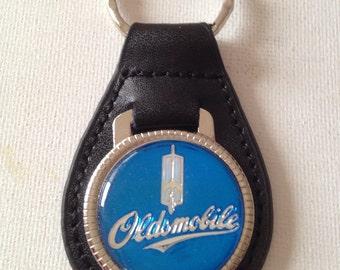Oldsmobile Keychain Genuine Leather Key Chain