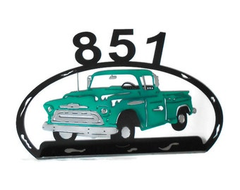 This Chevrolet pickup truck is as beautiful as it is detailed 1957' Chevrolet truck, Chevrolet pickup truck, Mail box decor, outdoor decor