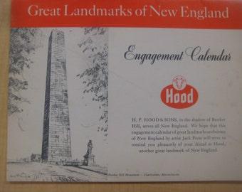 H. P. Hood & Sons Illustrated Calendar, Drawings, Recipes, 1967