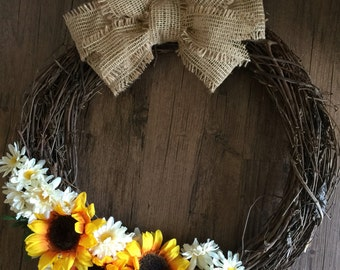 Sunflower Summer Wreath - Fall Wreath