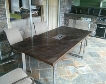 Fire table / patio table / dining table / concrete table