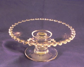 Candlewick Glass Cheese Stand