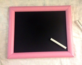 Pink framed chalkboard with chalk (8x10) light pink chalkboard!