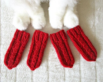 Pet shoes booties etsy hand knit cats socks for dogs cat dog socks knit pets socks dog and cat booties ccuart Images