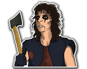 Alice Cooper Sticker - Schools Out For Halloween