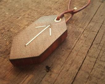 Rune Necklace, TIR Rune, Victory Rune, Wooden Rune Pendant,