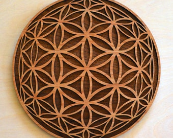 Flower of Life Orb Wall Art - Sacred Geometry Laser Cut Art - LaserTrees Item Number LT40107