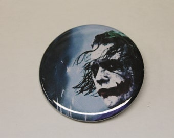 The Joker, Pin Back Button, Why So Serious, Heath Ledger, Badass Clown, Gotham