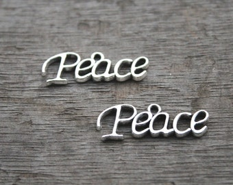 15pcs--Peace charms,Antique Tibetan silver peace charm Pendants,29x10mmD0452